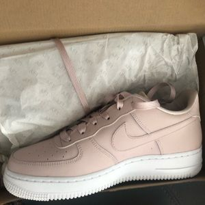 PINK NIKE AIR FORCE ONES *never worn*
